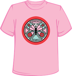 Retro Butterfly Shirt, Pink Pink, t-shirt, retro, butterfly, tshirt, shirt, girl, women's, women
