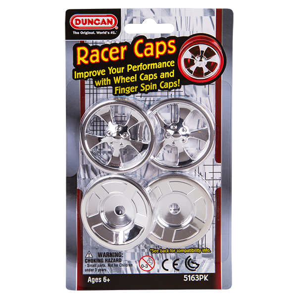 Duncan Racer Caps in packaging