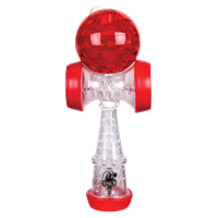 Red and clear Duncan Torch kendama