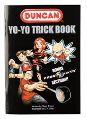 the front cover of the Duncan yo-yo trick book